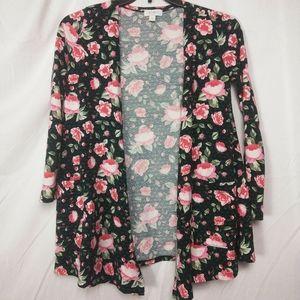 Lularoe Roses and Hearts Cardigan